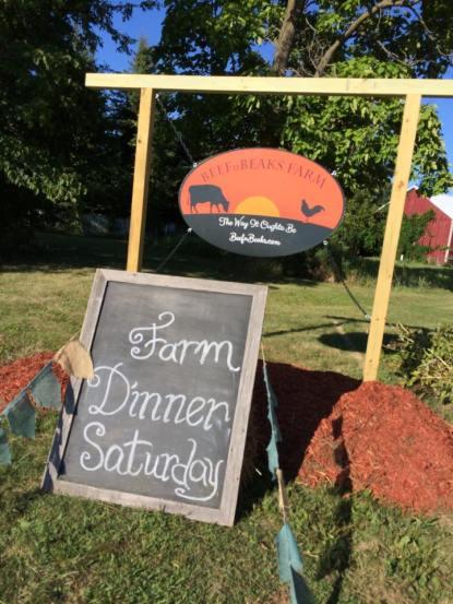 farm dinner sign