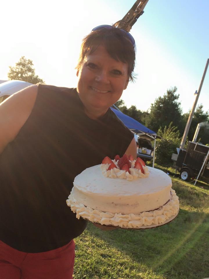 Rhonda and cake