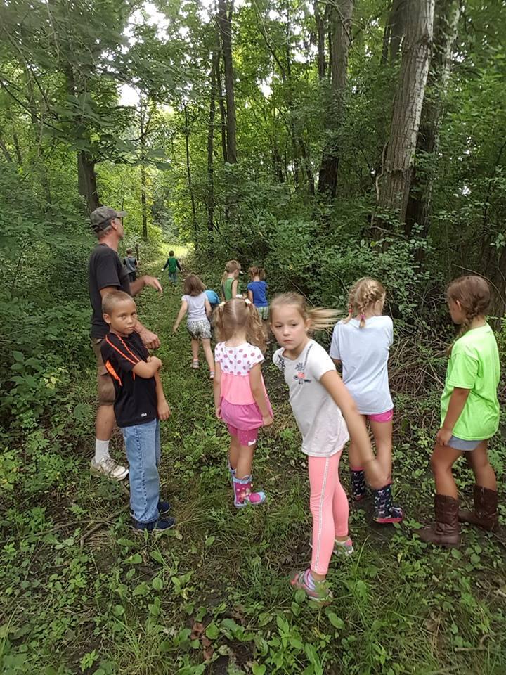 kids in woods farm camp